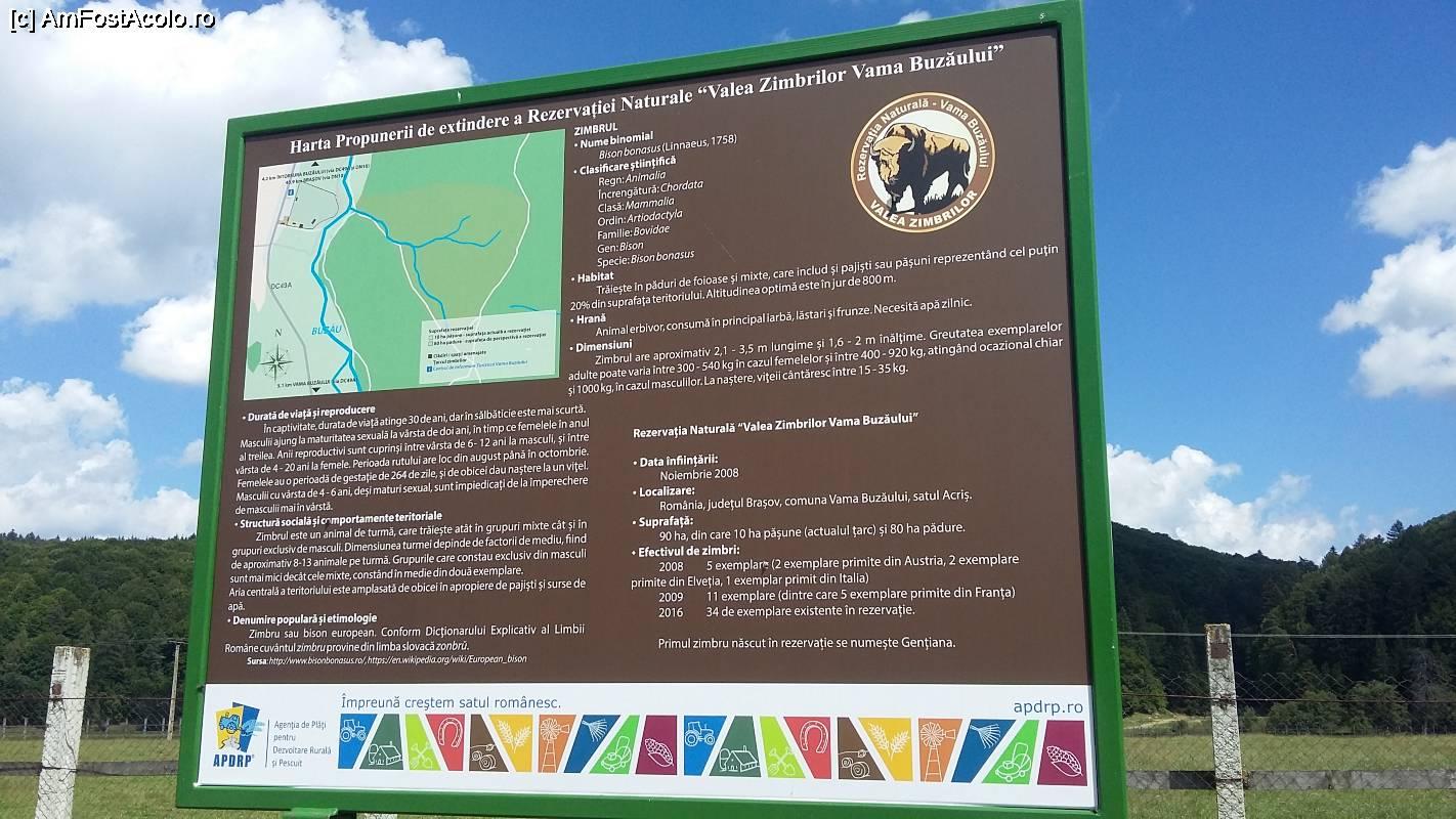 Harta Rezervaţia Naturală Valea Zimbrilor Acriș Vama