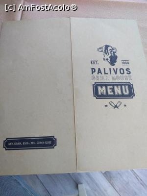 "P03 <small>[SEP-2019]</small> Palivos Grill House, meniul » foto by Dragos  -  <span class=""allrVoted glyphicon glyphicon-heart hidden"" id=""av1151720""></span> <a class=""m-l-10 hidden"" id=""sv1151720"" onclick=""voting_Foto_DelVot(,1151720,0)"" role=""button"">șterge vot <span class=""glyphicon glyphicon-remove""></span></a> <a id=""v91151720"" class="" c-red""  onclick=""voting_Foto_SetVot(1151720)"" role=""button""><span class=""glyphicon glyphicon-heart-empty""></span> <b>LIKE</b> = Votează poza</a> <img class=""hidden""  id=""f1151720W9"" src=""/imagini/loader.gif"" border=""0"" /><span class=""AjErrMes hidden"" id=""e1151720ErM""></span>"